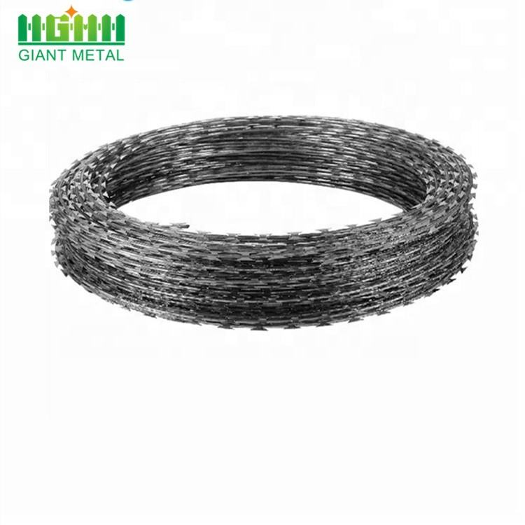 Galvanized BTO-22 Concertina Razor Barbed Wire Fence Per Roll In South Africa